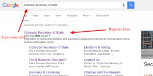 Colorado secretary of state Google search