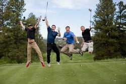 eric barstow and friends playing golf